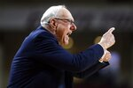 Syracuse head coach Jim Boeheim reacts during the first half of an NCAA college basketball game against Boston College, Tuesday, March, 3, 2020, in Boston. (AP Photo/Michael Dwyer)