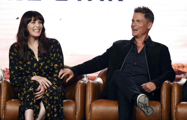 Rob Lowe, right, and Liv Tyler, cast members in the upcoming television series