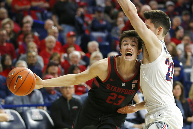 Arizona wins 19th straight over Stanford, 70-54