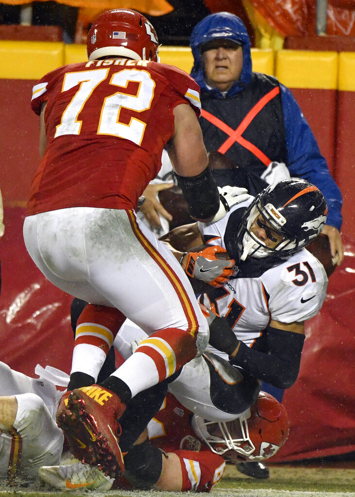 Justin Simmons, Eric Fisher