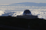 FILE - In this Sunday, July 14, 2019, file photo, a telescope at the summit of Mauna Kea, Hawaii's tallest mountain is viewed. Astronomers using a giant telescope planned for Hawaii's tallest peak will be able to study how the earliest galaxies formed not long after the Big Bang more than 13 billion years ago, which will inform humanity's understanding of how the universe came to be what it is today. They will be able to study planets orbiting stars other than our own with much greater detail. (AP Photo/Caleb Jones, File)
