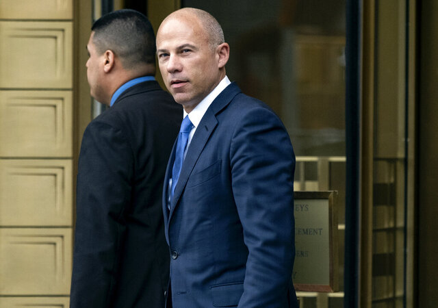 FILE - In this July 23, 2019, file photo, California attorney Michael Avenatti walks from a courthouse in New York, after facing charges. A Los Angeles amateur basketball league's founder told jurors Thursday, Feb. 6, 2020, that Avenatti betrayed him when the lawyer threatened to make his complaints against Nike public. (AP Photo/Craig Ruttle, File)