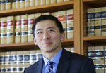 FILE - This Jan. 13, 2017 file photo shows California Supreme Court Associate Justice Goodwin Liu in his office in San Francisco. California's top court has rejected an attempt to make it harder to impose the death penalty. The Supreme Court ruled Thursday, Aug. 26, 2021 in favor of the current system where jurors need not unanimously agree on aggravating factors used to justify the punishment. (AP Photo/Jeff Chiu, File)