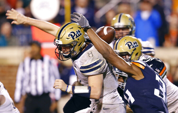 Hall runs wild and Pitt beats No. 23 Virginia, 23-13