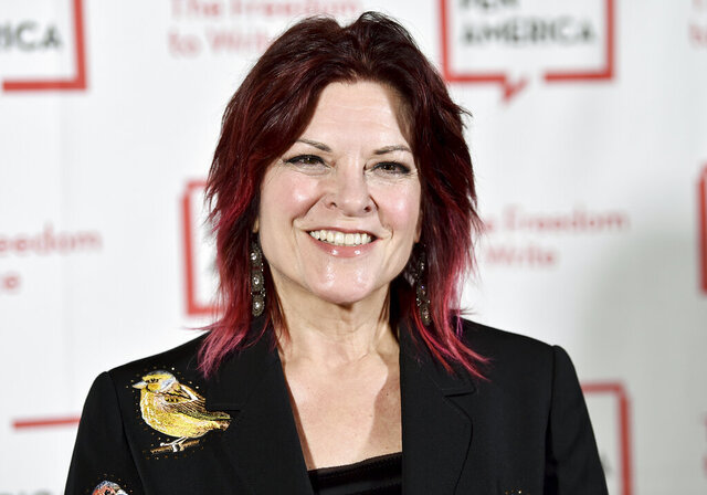 FILE - In this May 22, 2018, file photo, Rosanne Cash attends the 2018 PEN Literary Gala in New York. Cash's latest honor is a medal previously awarded to Toni Morrison, Stephen Sondheim and Georgia O'Keeffe among others. The singer-songwriter is this year's winner of the Edward MacDowell Medal, presented by the MacDowell artist colony, which announced the prize Sunday, May 17, 2020. (Photo by Evan Agostini/Invision/AP, File)