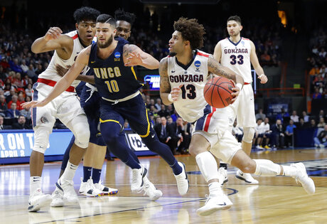 NCAA UNC Greensboro Gonzaga Basketball