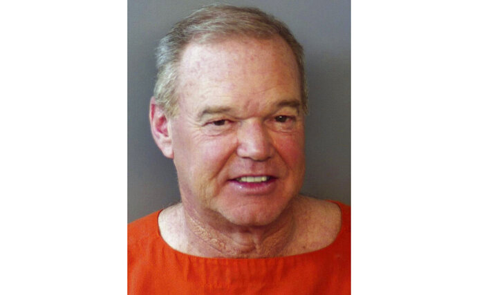 This photo provided by the Hendricks County Sheriff's Office shows Alfred Unser Jr. Retired two-time Indianapolis 500 winner Al Unser Jr. has been arrested in central Indiana and charged with operating a vehicle while intoxicated. The Indianapolis Star reports from police records that the 57-year-old Unser was stopped early Monday, May 20, 2019, in Avon, just west of Indianapolis. He was jailed about 3:20 a.m. in Hendricks County. (Hendricks County Sheriff's Office via AP)