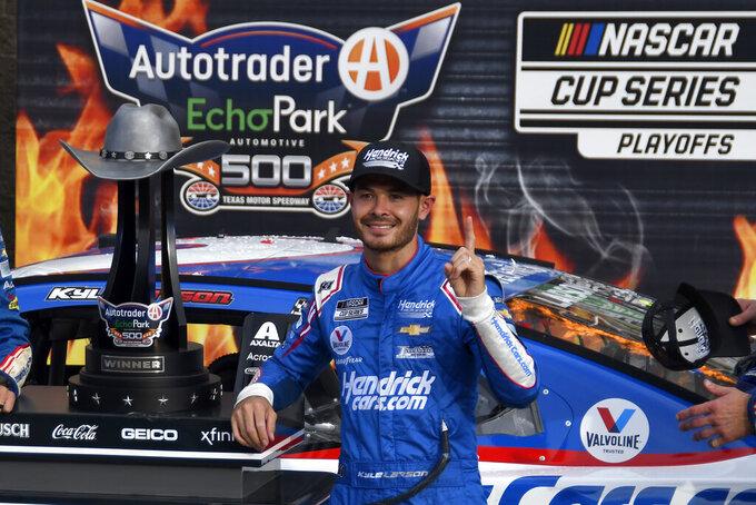 Larson 1st into NASCAR's championship 4 in a comeback season