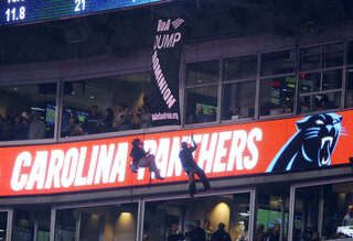 Colts Panthers Protestors