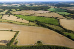 A wetland sits next to farmland near Hindolveston, Dereham, eastern England, on Friday, Sept. 13, 2019. Since the start of the 20th century, 75 percent of the United Kingdom's ponds have been lost. (AP Photo/Emilio Morenatti)