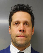 This June 6, 2020 photo provided by the Erie County District Attorney's Office in Buffalo, N.Y., shows suspended Buffalo police officer Aaron Torgalski. Prosecutors say Torgalski was charged with assault Saturday, June 6, 2020 after a video showed him and another officer shoving a 75-year-old protester on Thursday, June 4, in a recent demonstration over the death of George Floyd in Minnesota. (Erie County District Attorney's Office via AP)