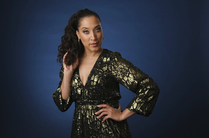 """FILE - Robin Thede, the creator, star and executive producer of the HBO comedy series """"A Black Lady Sketch Show,"""" poses for a portrait during the 2019 Television Critics Association Summer Press Tour on July 24, 2019, in Beverly Hills, Calif. Thede is nominated for an Emmy award for outstanding variety series. (Photo by Chris Pizzello/Invision/AP, File)"""