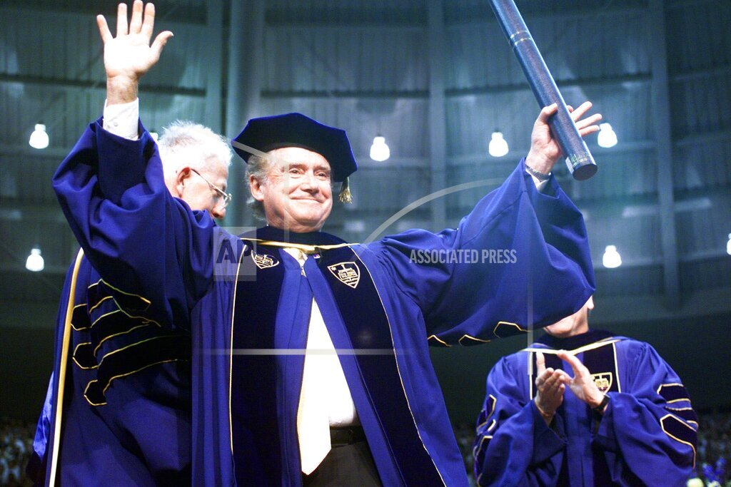 Associated Press Domestic News Indiana United States Entertainment NOTRE DAME COMMENCEMENT PHILBIN