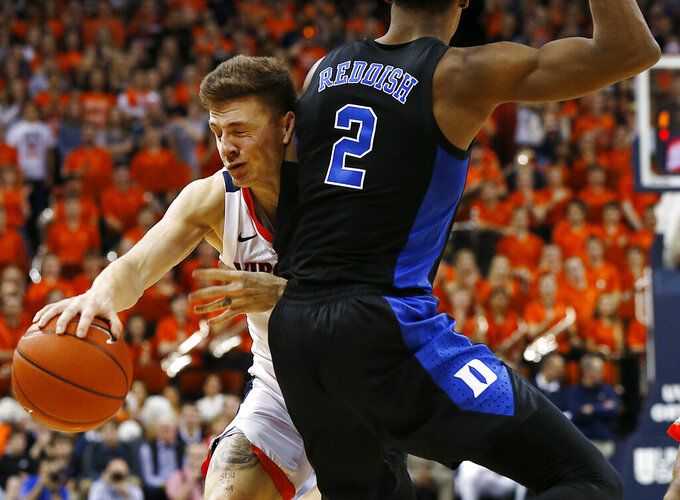 Barrett, 3s lead No. 2 Duke past No. 3 Virginia, 81-71