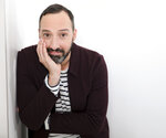 "This Oct. 2, 2019 photo shows actor Tony Hale posing for a portrait in New York. Hale has earned many fans by playing a morally questionable, immature man-child in both ""Arrested Development"" and ""Veep."" But he switched gears to play the lovable and innocent Forky, who embarks on a road trip with Woody, Buzz and the gang in ""Toy Story 4,"" available on digital, 4K Disc and Blu-Ray this week. (Photo by Brian Ach/Invision/AP)"