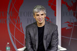 FILE - In this Nov. 2, 2015, file photo Alphabet CEO Larry Page speaks at the Fortune Global Forum in San Francisco.  Google co-founders Larry Page and Sergey Brin are stepping down from their roles within the parent company, Alphabet. Page who had been serving as CEO of Alphabet, and Brin, who had been president of Alphabet, will remain on the board of the company (AP Photo/Jeff Chiu, File)