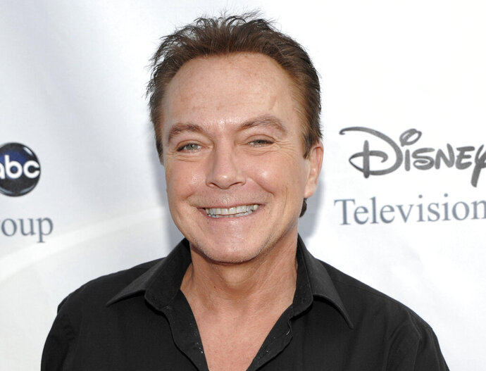 FILE - This Aug. 8, 2009 file photo shows actor-singer David Cassidy, best known for his role as Keith Partridge on