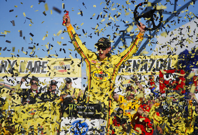Joey Logano holds off Brad Keselowski for Vegas NASCAR win