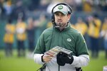 Green Bay Packers head coach Matt LaFleur is seen during the first half of an NFL football game against the Washington Redskins Sunday, Dec. 8, 2019, in Green Bay, Wis. (AP Photo/Mike Roemer)