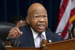 """FILE - In this April 2, 2019, file photo, House Oversight and Reform Committee Chair Elijah Cummings, D-Md., speaks on Capitol Hill in Washington. Cummings says the White House is now in """"open defiance"""" of his panel after lawyers advised a former official to resist a subpoena related to the committee's investigation of White House security clearances. (AP Photo/J. Scott Applewhite)"""