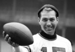 FILE - This is a Dec. 29, 1962, file photo showing Green Bay Packers quarterback Bart Starr during a workout at Yankee Stadium in New York. Starr, the Green Bay Packers quarterback and catalyst of Vince Lombardi's powerhouse teams of the 1960s, died on May 26, 2019. He was 85(AP Photo/File)