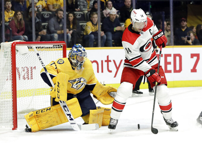 Carolina Hurricanes at Nashville Predators 3/9/2019