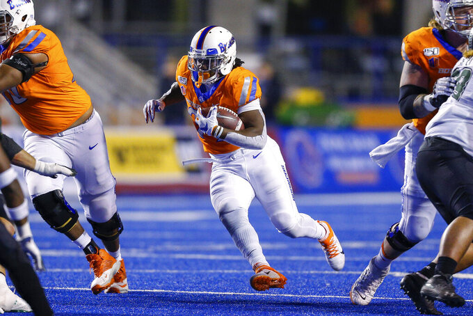 No. 14 Boise State loses Bachmeier, beats Hawaii 59-37
