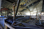 The historic roof of the former KeyArena and a tiered seating area are shown Tuesday, Sept. 1, 2020, as work continues on the Climate Pledge Arena in Seattle, the home of the Seattle Kraken NHL hockey team. Sometime in the late summer or early fall of 2021, the Kraken will open the new facility -- at a cost that will likely total $1 billion by the time it's done -- and become the NHL's 32nd franchise. (AP Photo/Ted S. Warren)