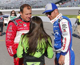 Clint Bowyer, Danica Patrick, Ryan Newman
