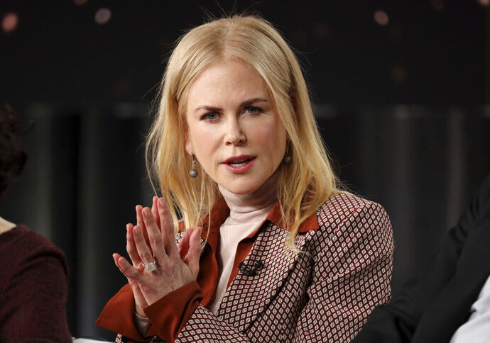 FILE - In this Wednesday, Jan. 15, 2020, file photo, Nicole Kidman speaks at the