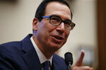 Treasury Secretary Steven Mnuchin testifies before the House Committee on Financial Services on Capitol Hill in Washington, Wednesday, May 22, 2019. (AP Photo/Carolyn Kaster)