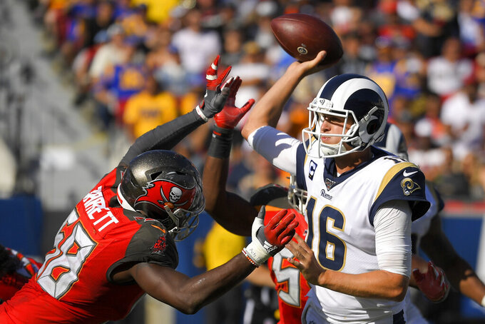 Goff's prolific passing day only underlines Rams' problems