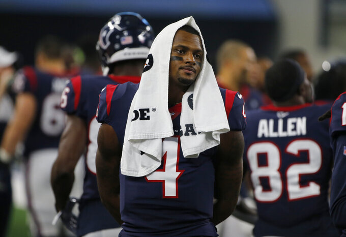 Texans' Watson out quickly, Miller hurt in loss to Cowboys