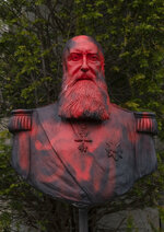 "FILE - In this Tuesday, June 9, 2020 file photo, a bust of Belgium's King Leopold II is smeared with red paint and graffiti in Tervuren, Belgium. For the first time in Belgium's history, a reigning king has expressed regret for the violence carried out by the former colonial power when it ruled over what is now the Democratic Republic of the Congo. In a letter to the president of the DRC, Felix Tshisekedi, published Tuesday June 30, 2020 — the 60th anniversary of the African country's independence — Belgium's King Philippe conveyed his ""deepest regrets"" for the ""acts of violence and cruelty"" and the ""suffering and humiliation"" inflicted on Belgian Congo. (AP Photo/Virginia Mayo, File)"