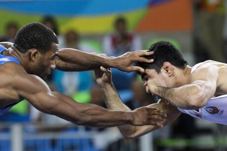 Iran US Wrestlers