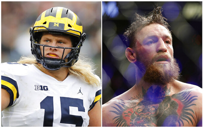 Michigan's Chase Winovich calls Conor McGregor big brother