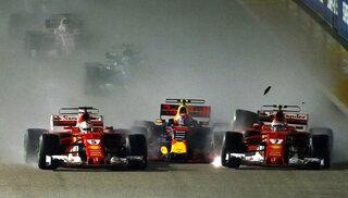 Kimi Raikkonen Max Verstappen Sebastian Vettel