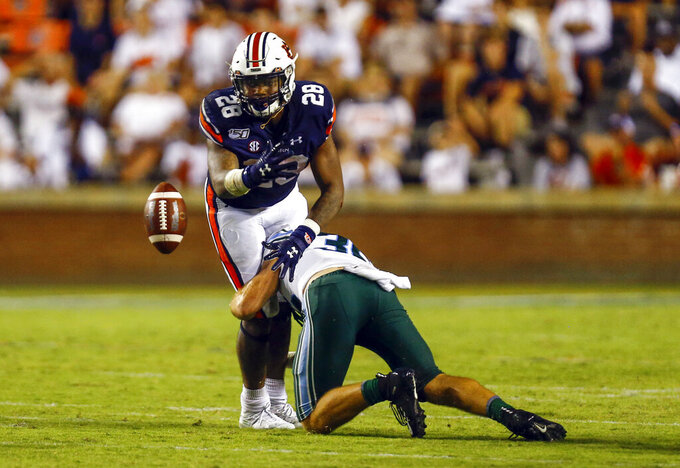 No. 8 Auburn's ground game still work in progress