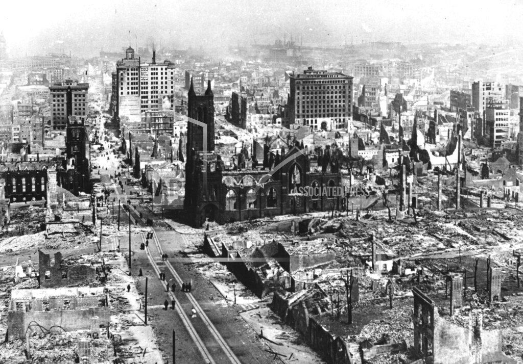 Associated Press Domestic News California United States SAN FRANCISCO EARTHQUAKE 1906