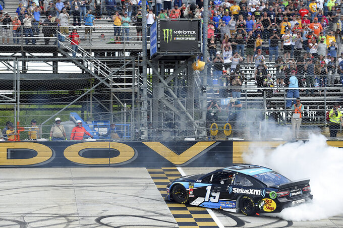 Truex wins 2nd career Monday NASCAR race at Dover