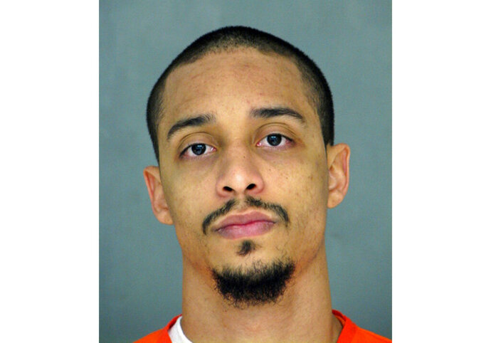 FILE - This undated photo provided by the Delaware Department of Justice shows Roman Shankaras. Shankaras was acquitted, Thursday, May 23, 2019, of leading a riot at Delaware's maximum-security prison during which a guard was killed and other staffers taken hostage. (Delaware Department of Justice via AP, File)