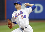 New York Mets starting pitcher Steven Matz delivers against the Washington Nationals during the second inning of a baseball game Thursday, July 12, 2018, in New York.(AP Photo/Julie Jacobson)