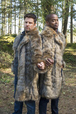 In this image released by Peacock, James Roday, left, and Dule Hill appear in the new film