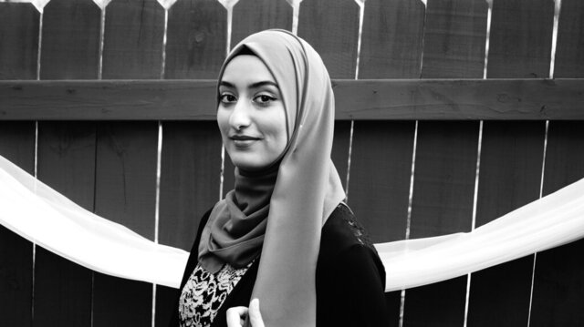 This undated photo provided by the Academy of American Poets shows Threa Almontaser, the 2020 Walt Whitman Award Winner. (Jawaher Ali/Threa Almontaser/Courtesy of Academy of American Poets via AP)