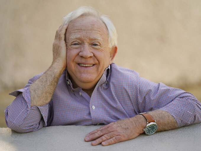"""Actor Leslie Jordan poses for a portrait at Pan Pacific Park in the Fairfax district of Los Angeles on Thursday, April 8, 2021 to promote his new book """"How Y'all Doing?: Misadventures and Mischief from a Life Well Lived."""" (AP Photo/Damian Dovarganes)"""