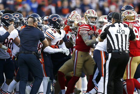 Bears 49ers Football