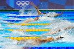 Ryan Murphy, of United States, swims in the men's 200-meter backstroke final at the 2020 Summer Olympics, Friday, July 30, 2021, in Tokyo, Japan. (AP Photo/Jae C. Hong)