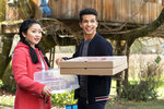 In this undated image provided by Netflix is Lana Condor, left, and Jordan Fisher in a scene from the film,