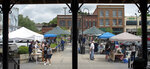 In this May 5, 2019 photo, The State Street Farmer's market in Bristol, Tenn. is open every Saturday from 8 am to noon through October and Wednesday from 2:00-6:00 through September. (Andre Teauge/Bristol Herald Courier via AP)