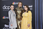 Kaitlyn Dever, from left, Olivia Wilde, Beanie Feldstein arrive at the Billboard Music Awards on Wednesday, May 1, 2019, at the MGM Grand Garden Arena in Las Vegas. (Photo by Richard Shotwell/Invision/AP)